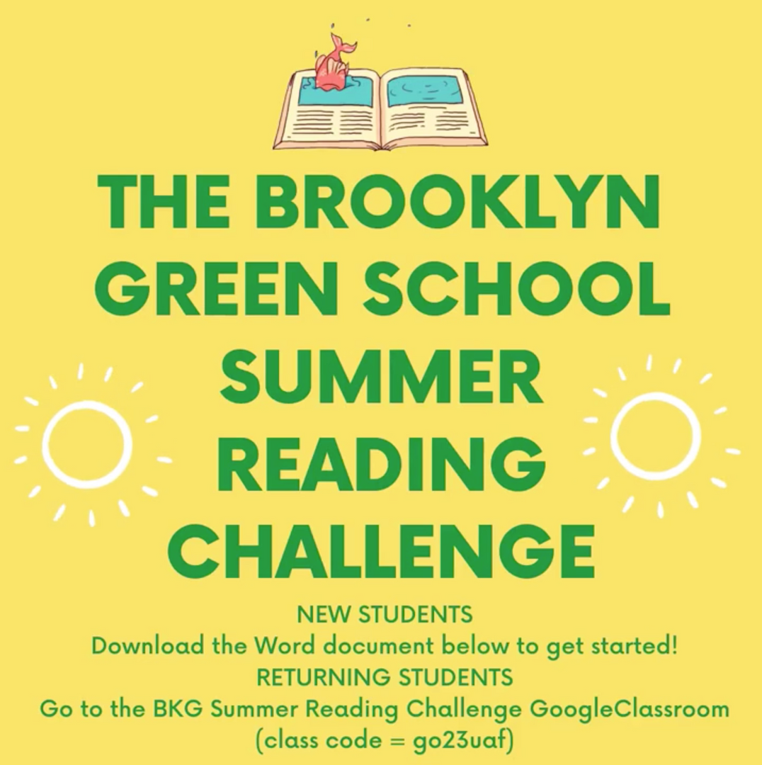 The Brooklyn Green School Summer Reading Challenge