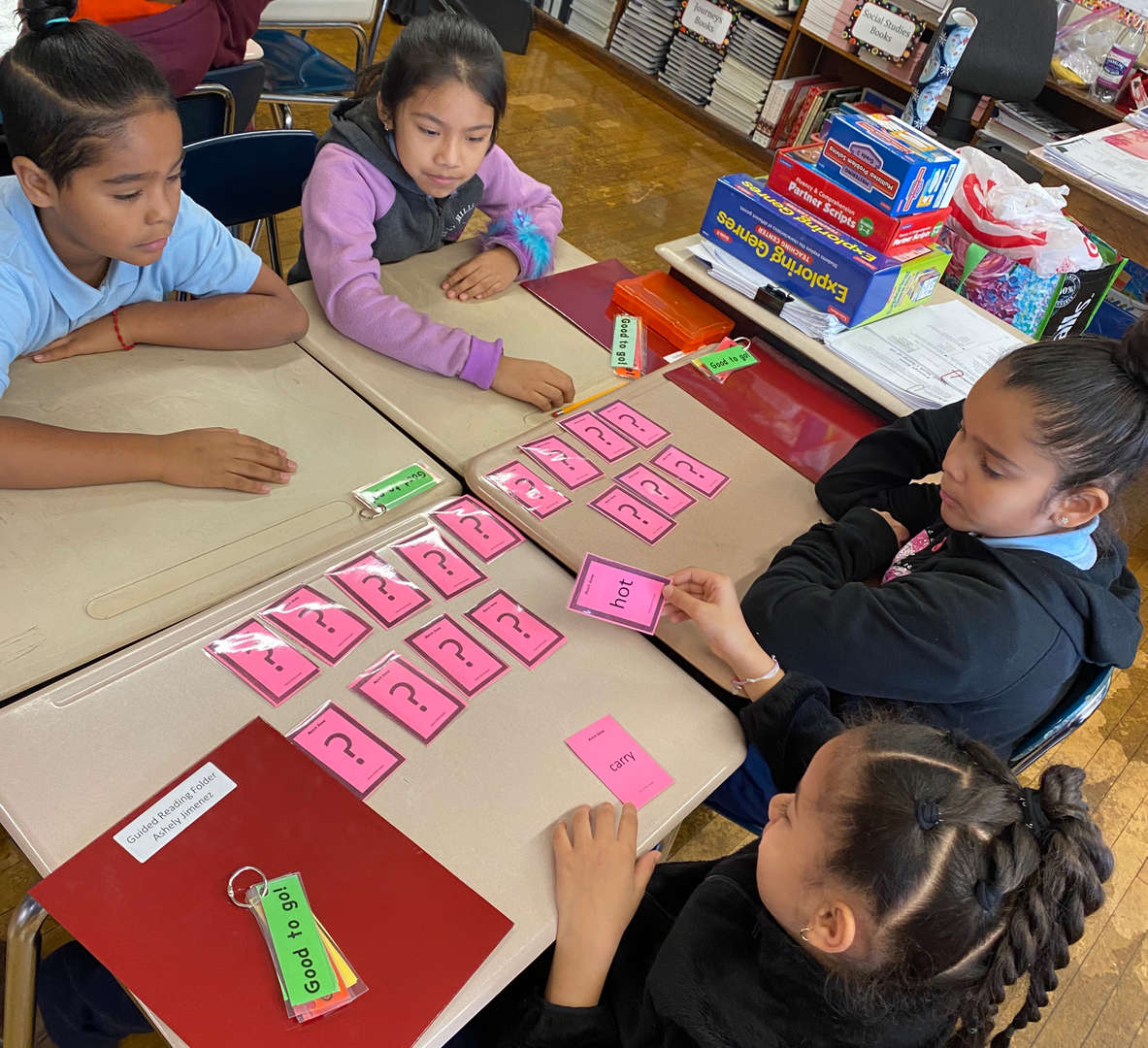 Students participate in guided reading