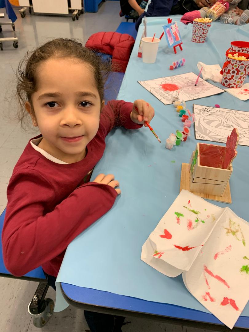 Student at PTA Winter Wonderland 2019 Event