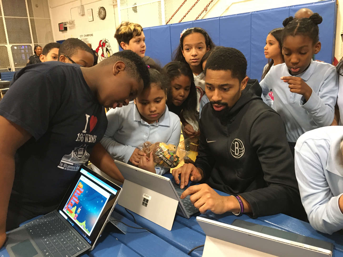 An hour of coding with Microsoft and Spencer Dinwiddie