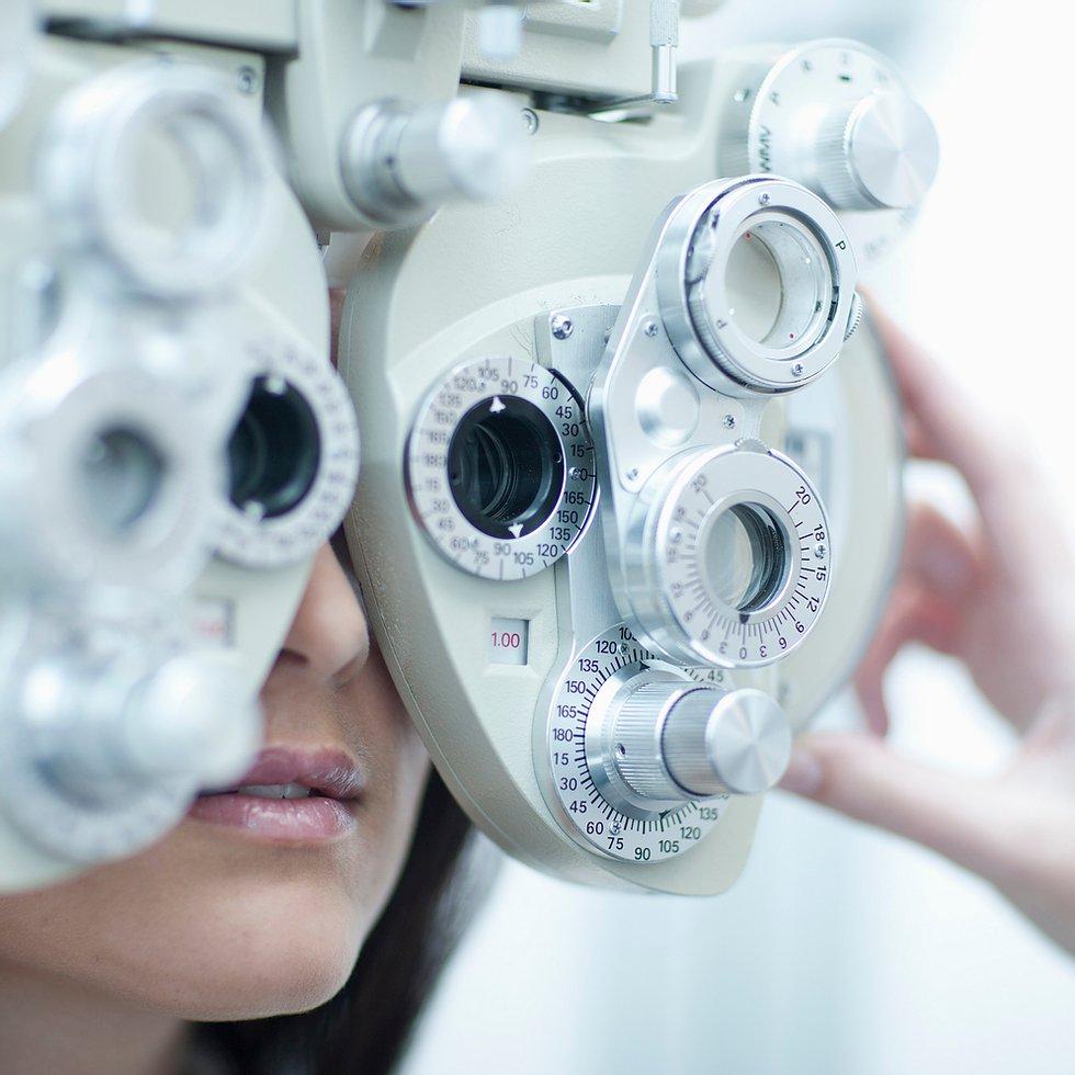 Person taking an eye test