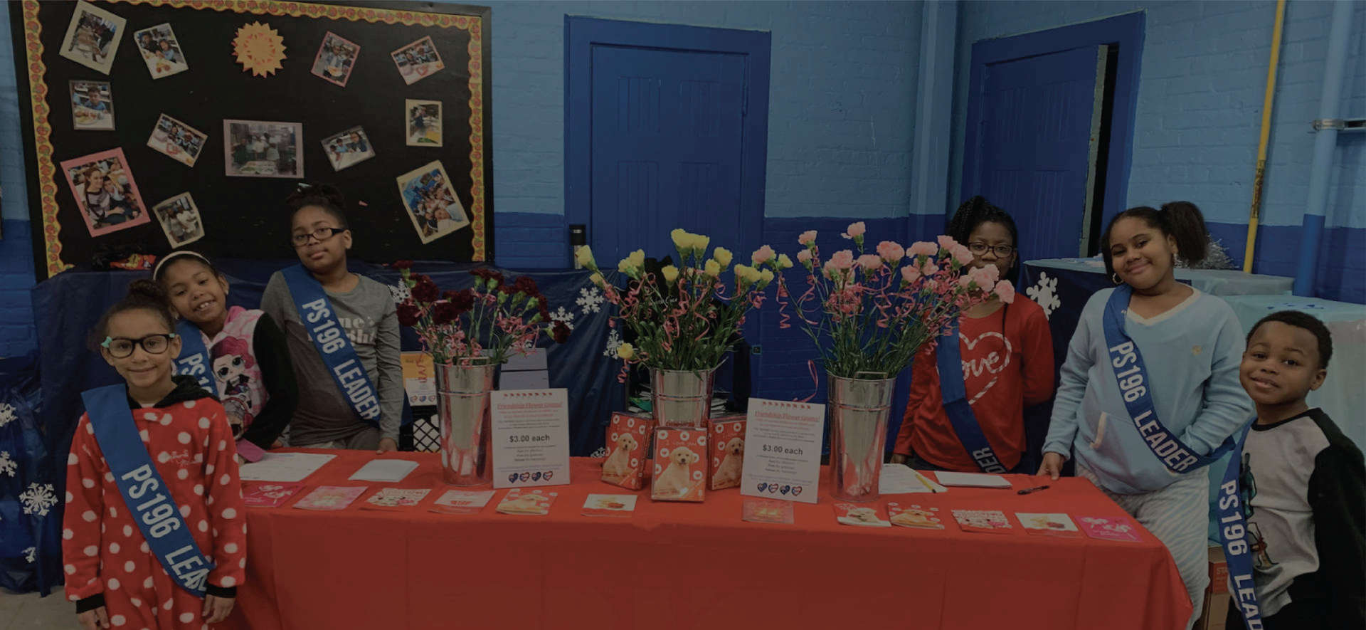 Student Lighthouse team sells Friendship Flower Grams February 2020