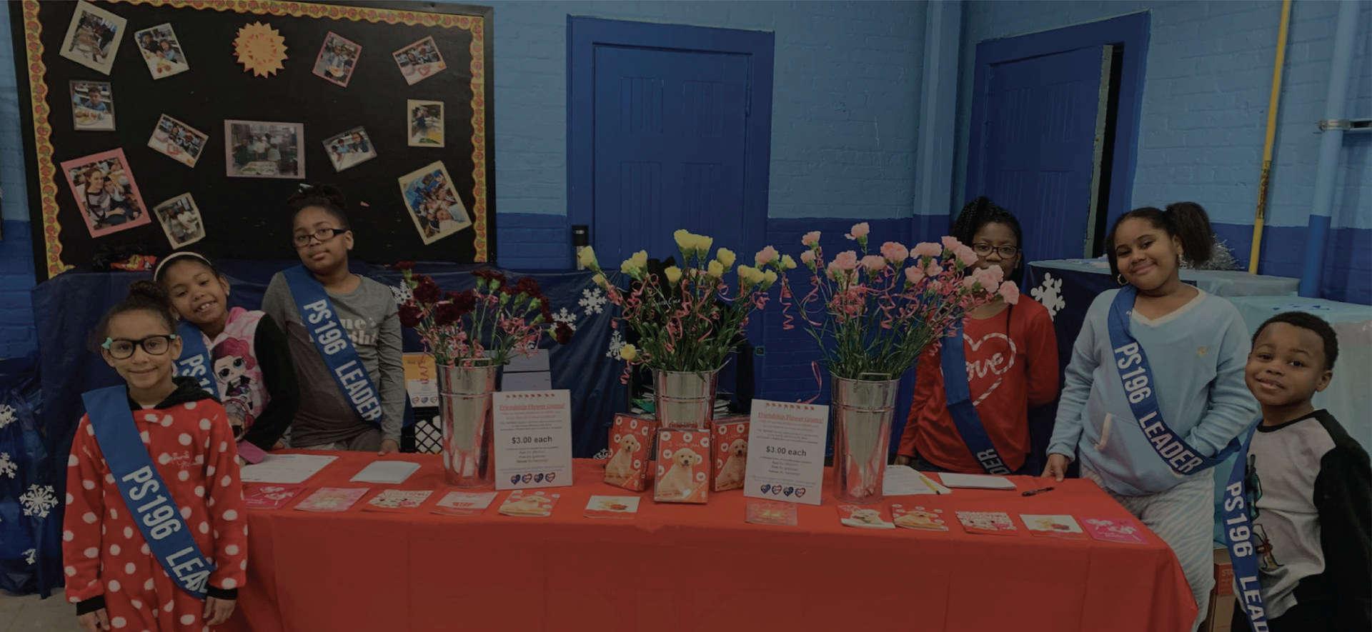 Student Lighthouse team sells Friendship Flower Grams February 2020