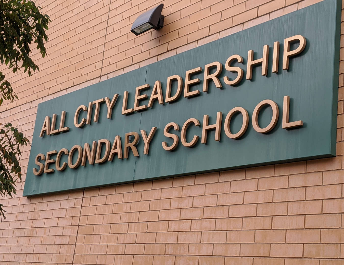 All City Leadership Secondary School sign