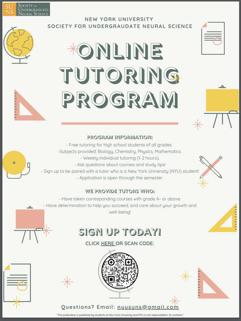 NYU tutoring program for high school students