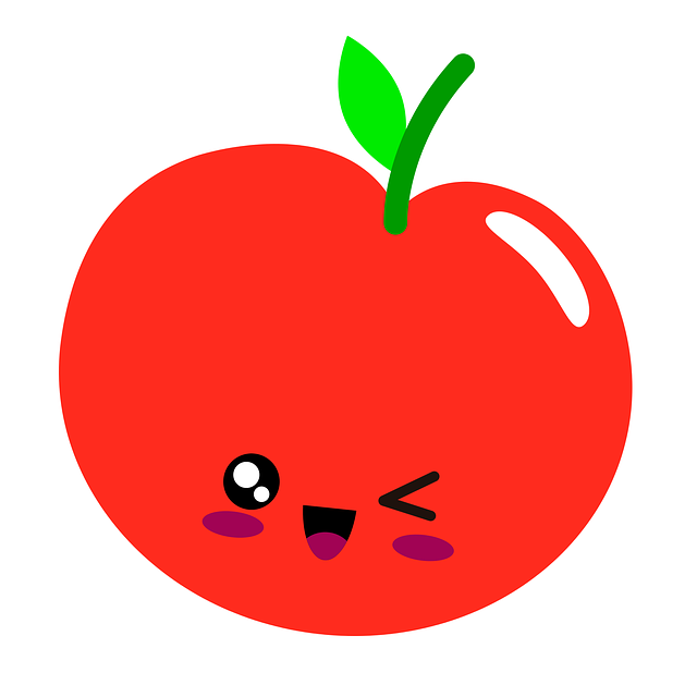 Apple smiling graphic