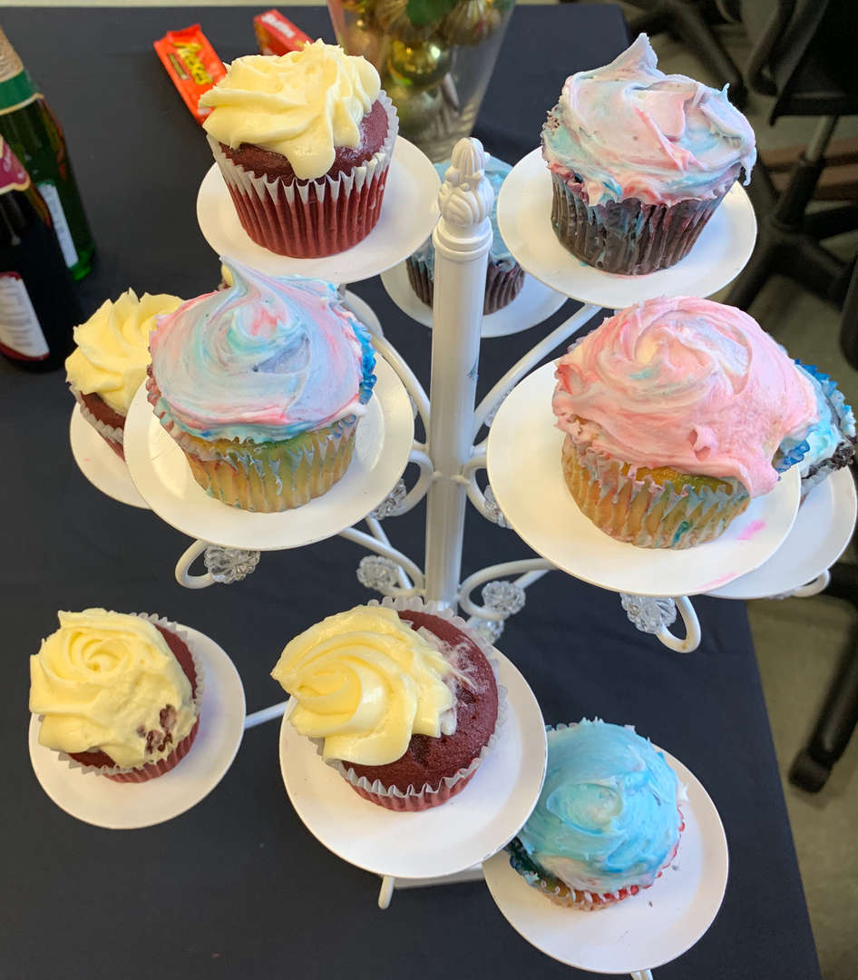 Cupcakes on an elevated display