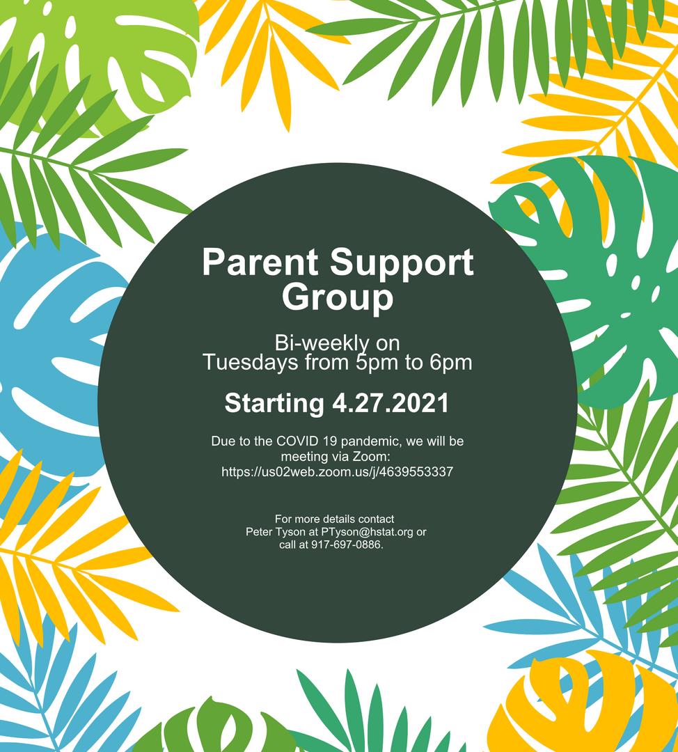 Parent Support Group flyer.