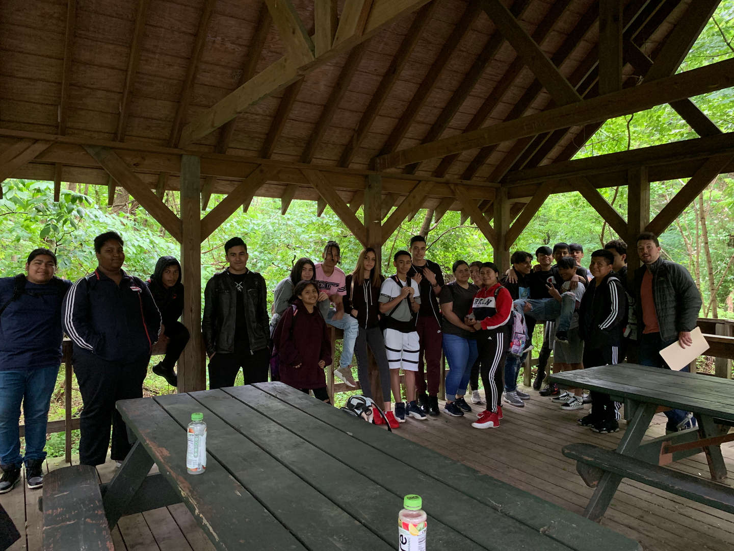 Students during their trip to Blue Heron Park