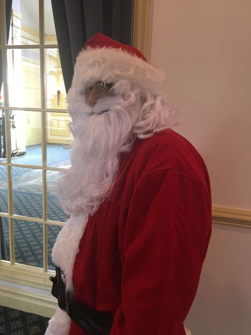 Someone dressed as Santa