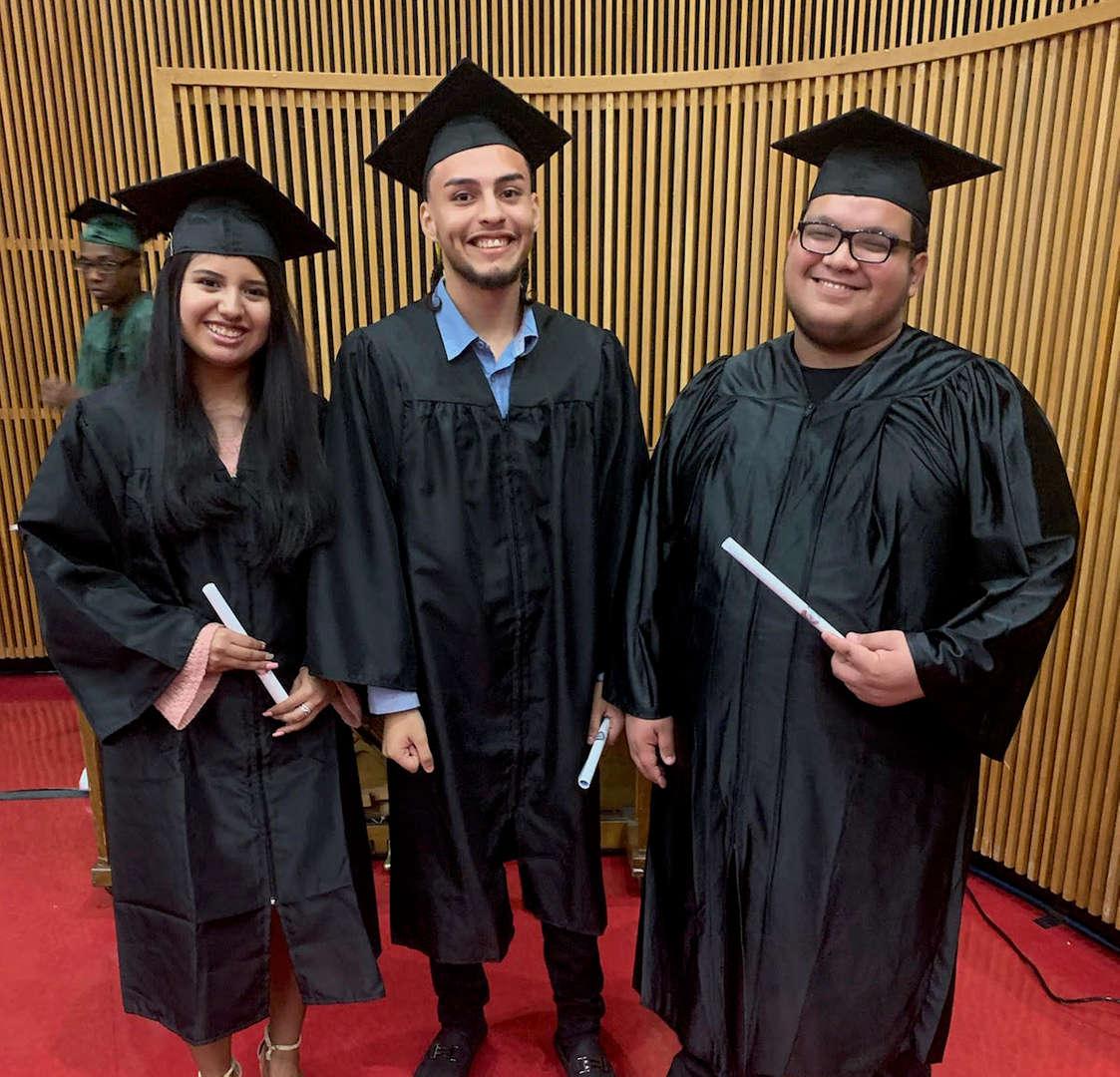 Three 2019 Graduates