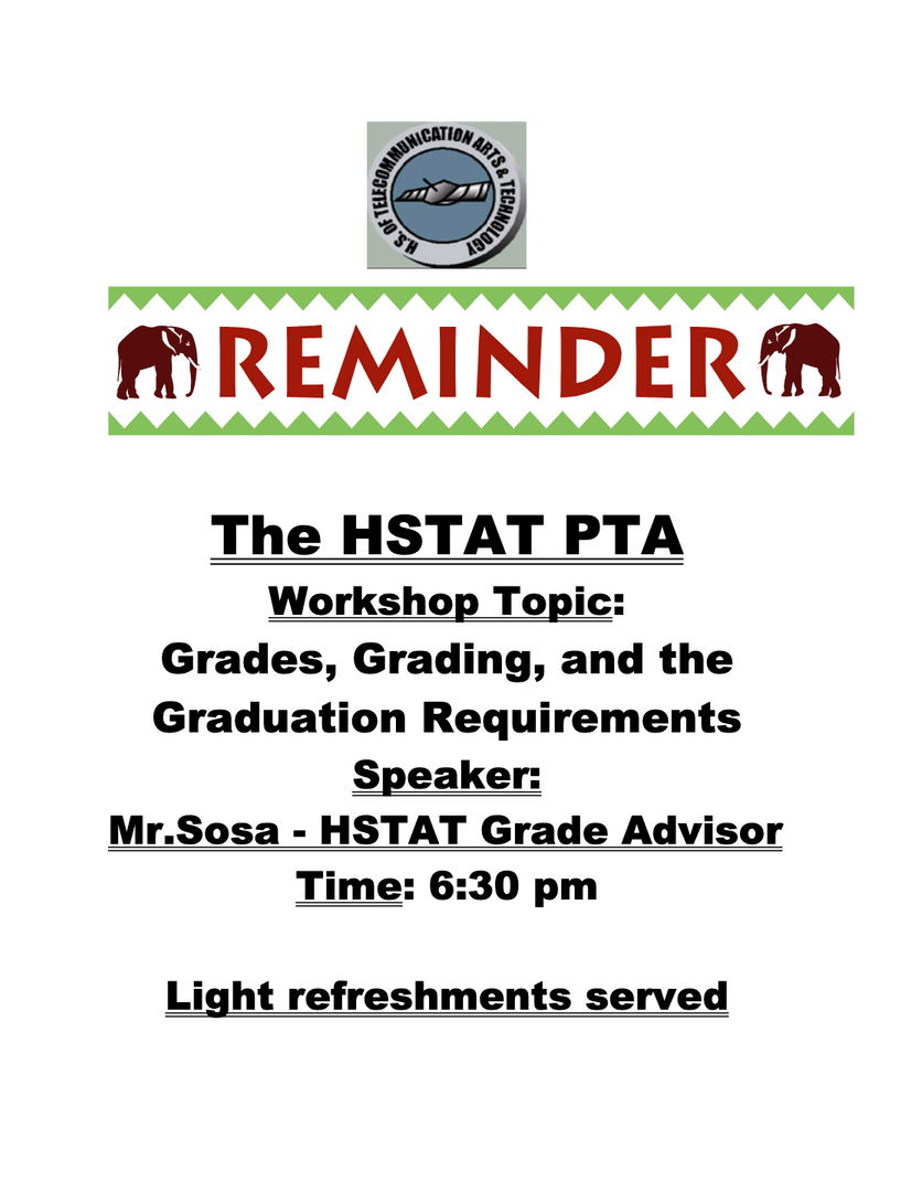 PTA Workshop flyer