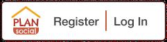 Plan Social logo and register button