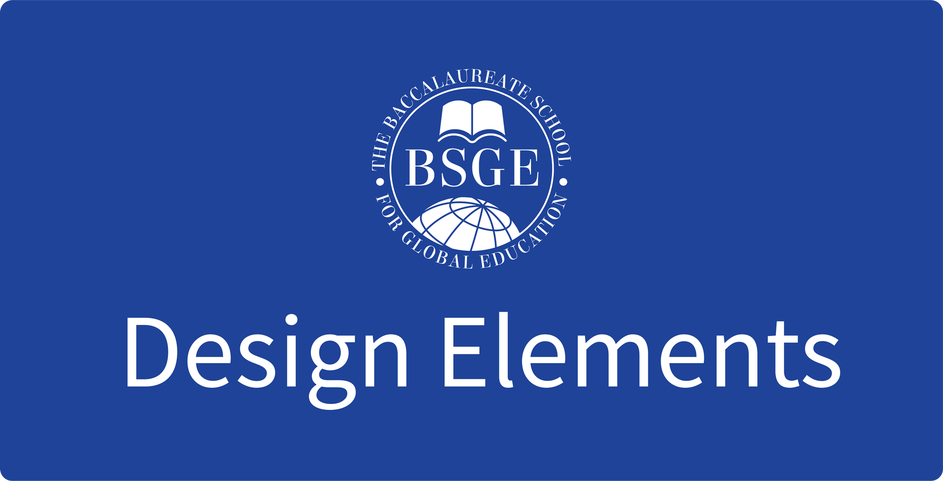 BSGE Design Elements