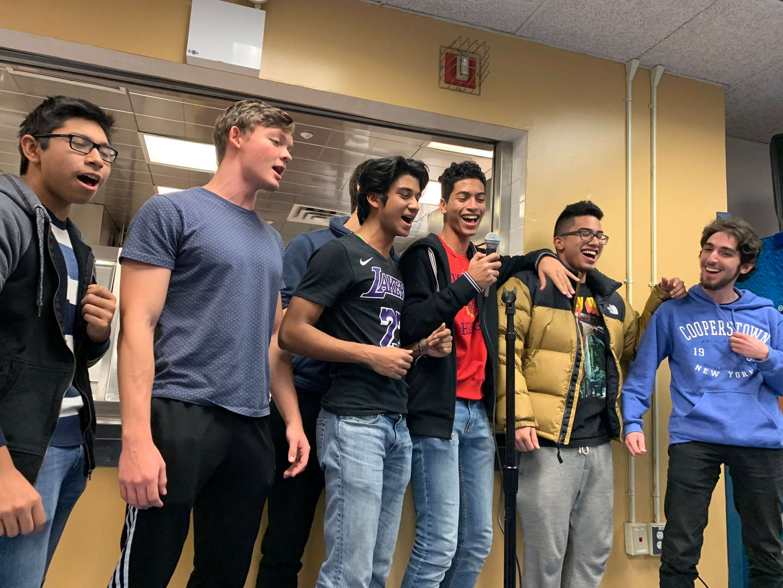Student singing together