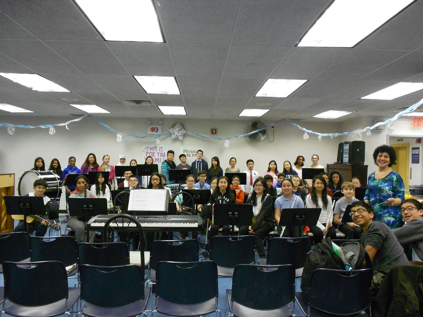 A class in the music room