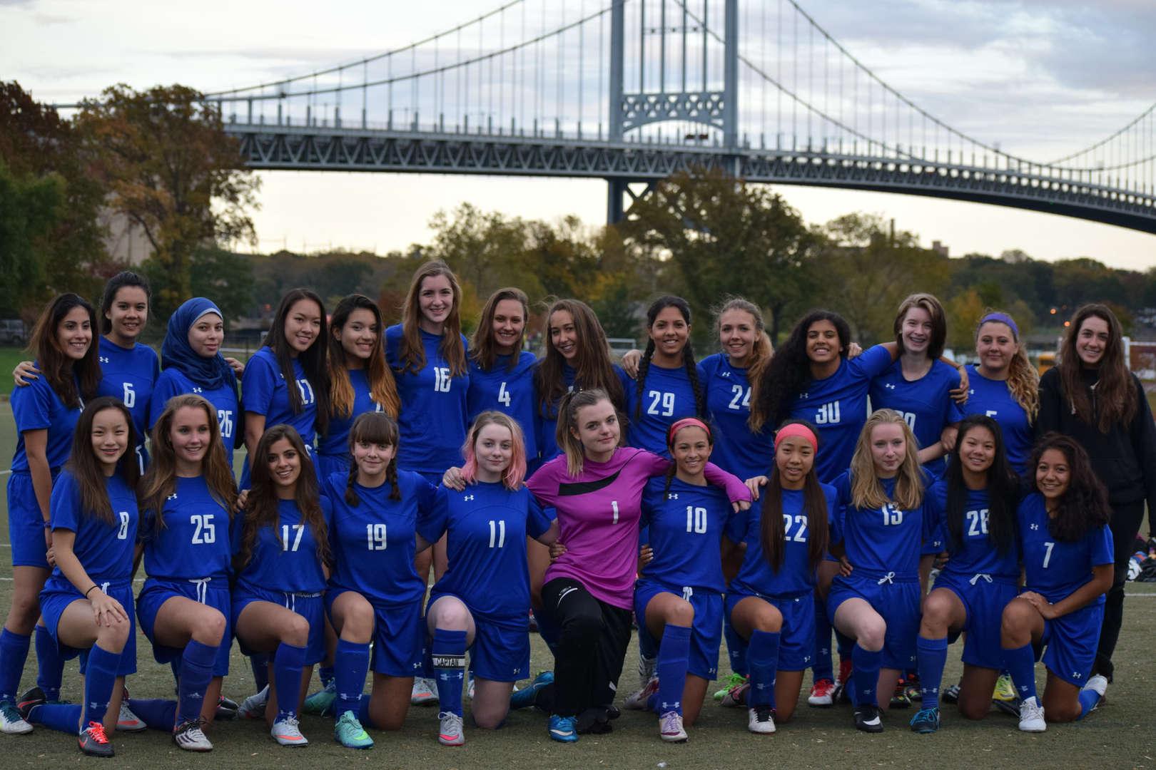 The BSGE girls' soccer team