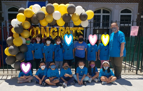 Congratulations to a Kindergarten class celebrating stepping up.