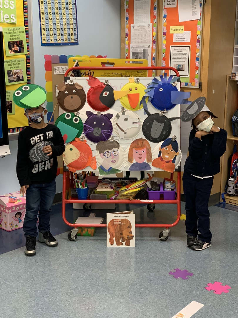 Pre-K 215 made great brown bear projects