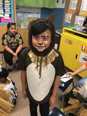 Student dressed up as Scar from The Lion King