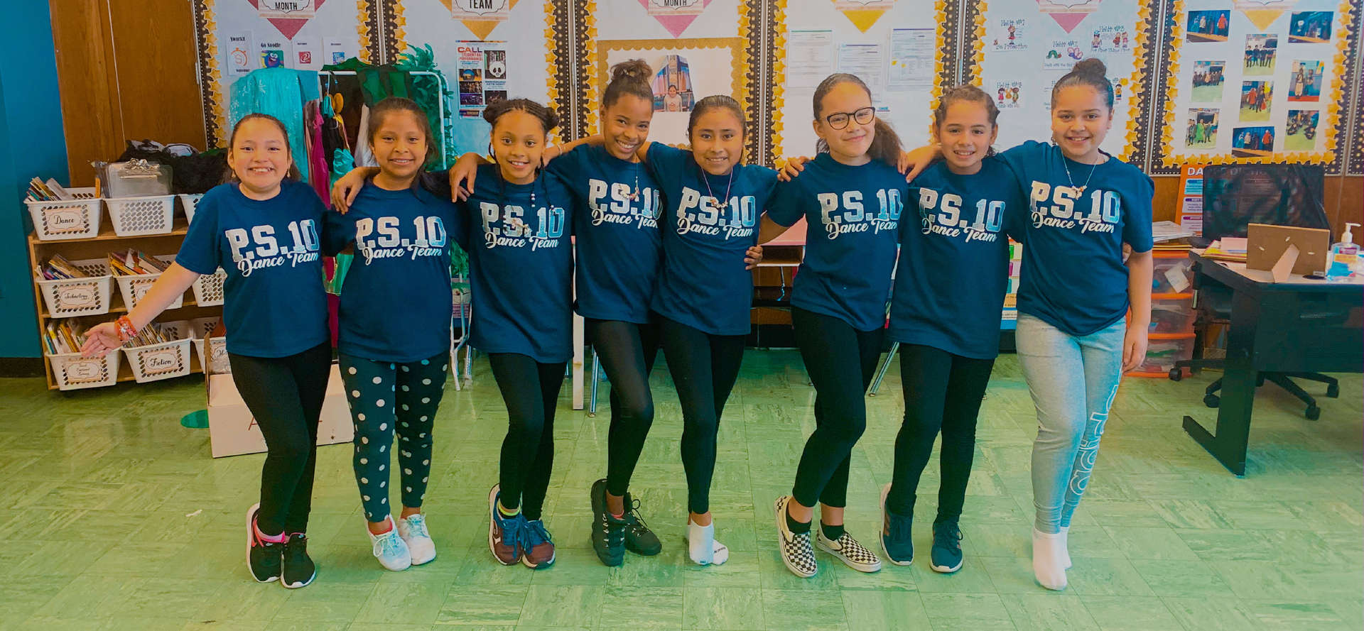 Members of the P.S. 10 dance team