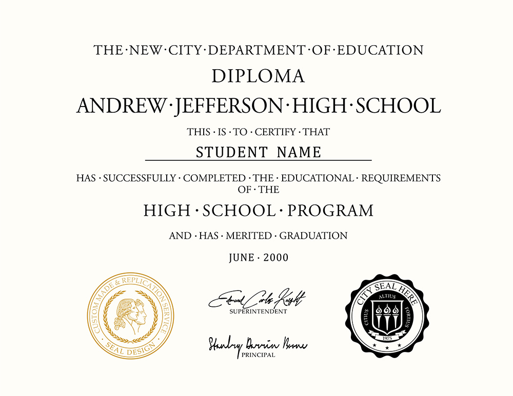 decorative picture of a diploma