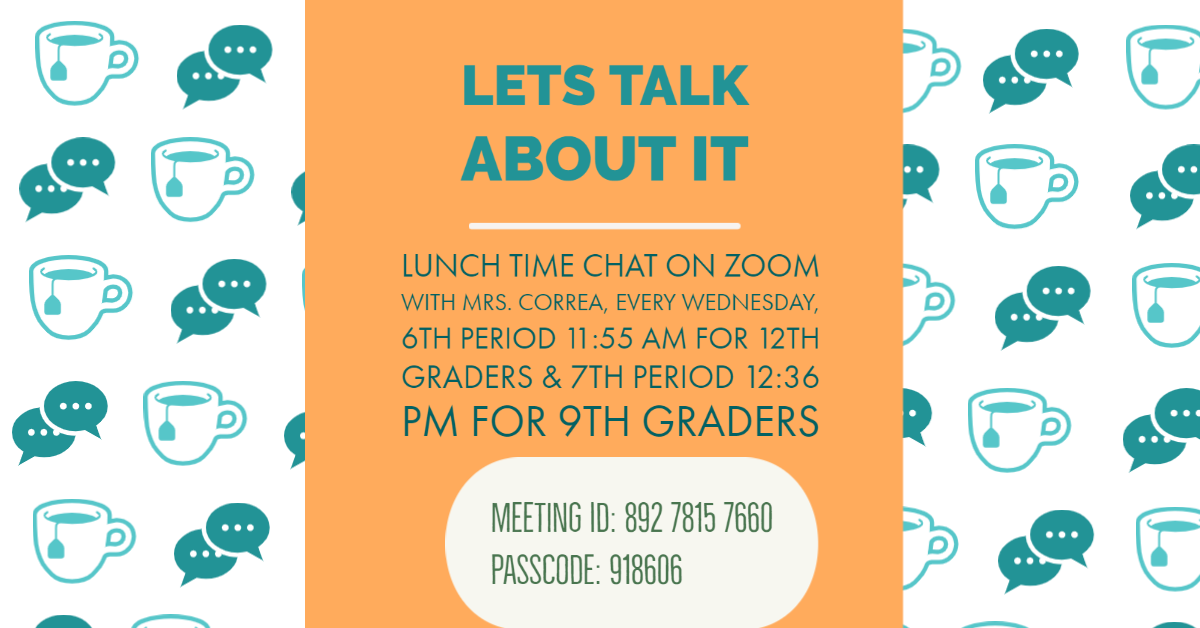 invite to correa lunch chat