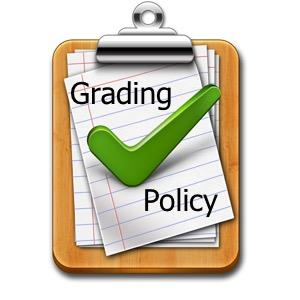 decorative picture of a clip board with grading policy