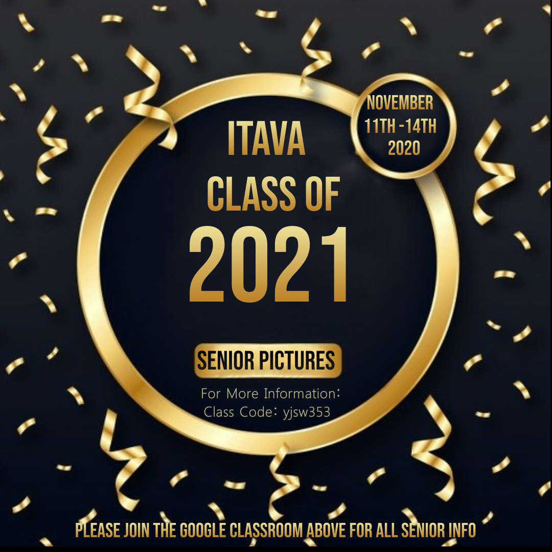 Seniors Pictures Flyer: ITAVA Class of 2021 on Nov. 11-14, 2020
