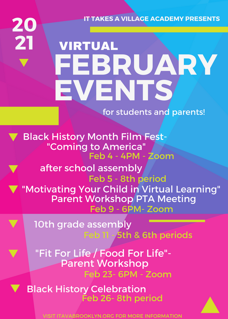 List of events for February
