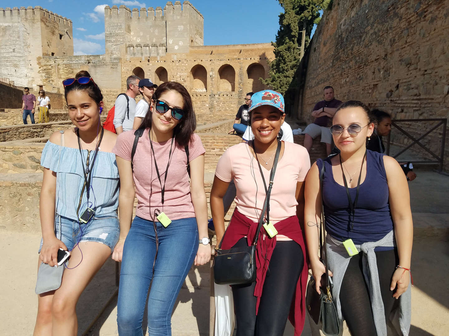 Students at Ancient Ruins in Spain