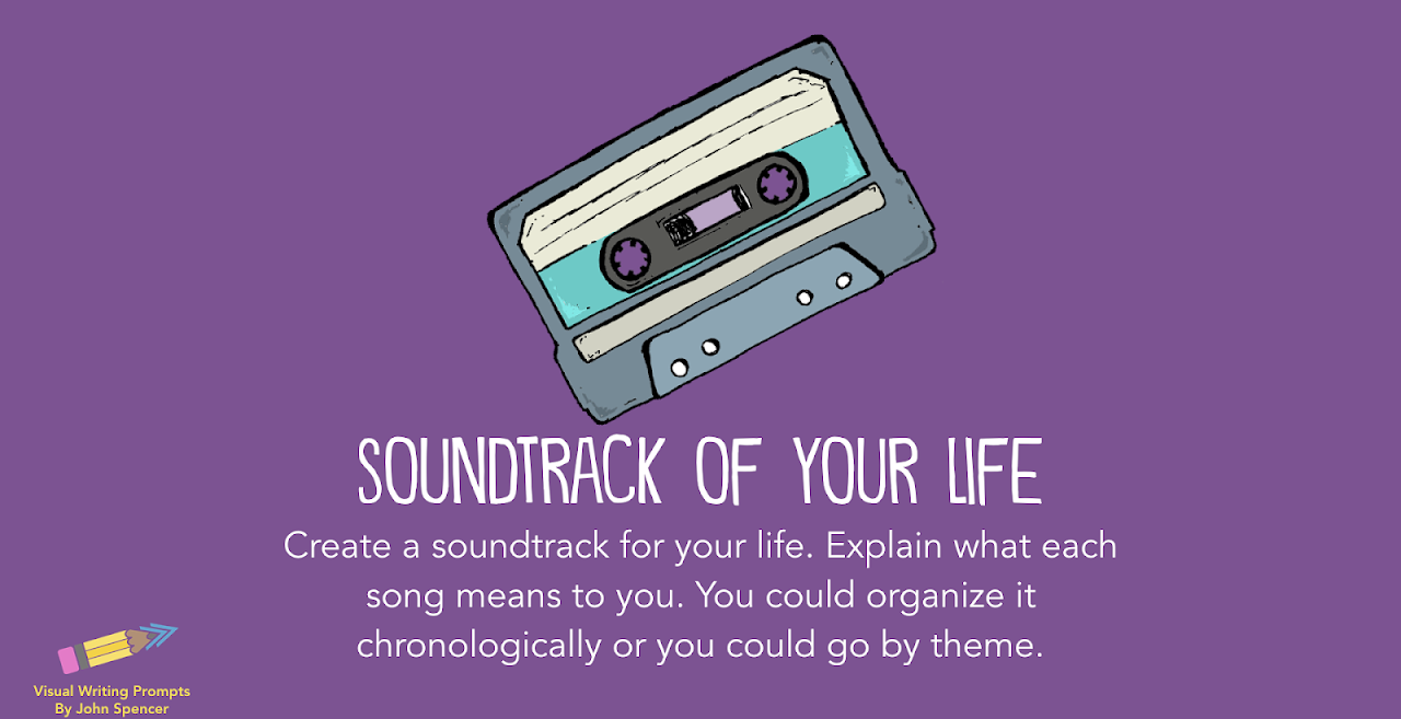 Create a soundtrack of your life and explain what each song means to you (chronologically or by theme)