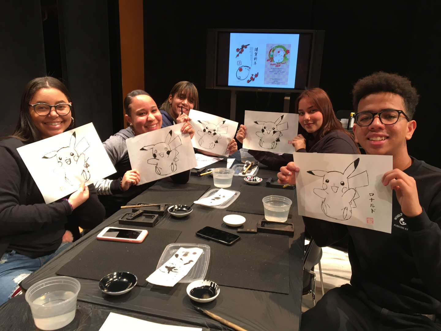 Students on trip to Japanese Society