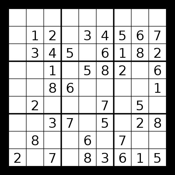 Sodoku puzzle