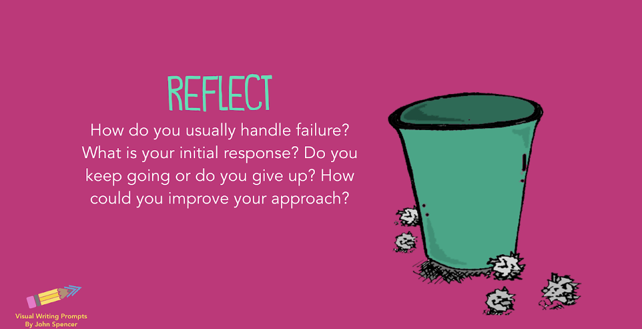Reflect: How do you usually handle failure? What's your response? Could you improve?