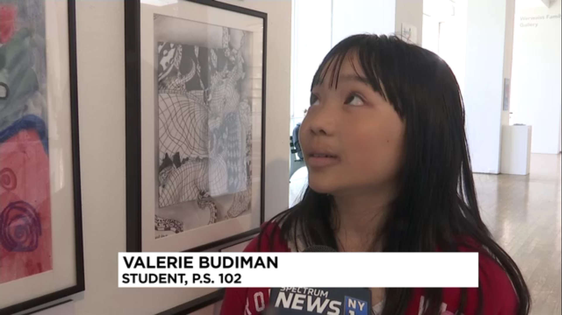 Student Valerie Budiman at the Queens Museum