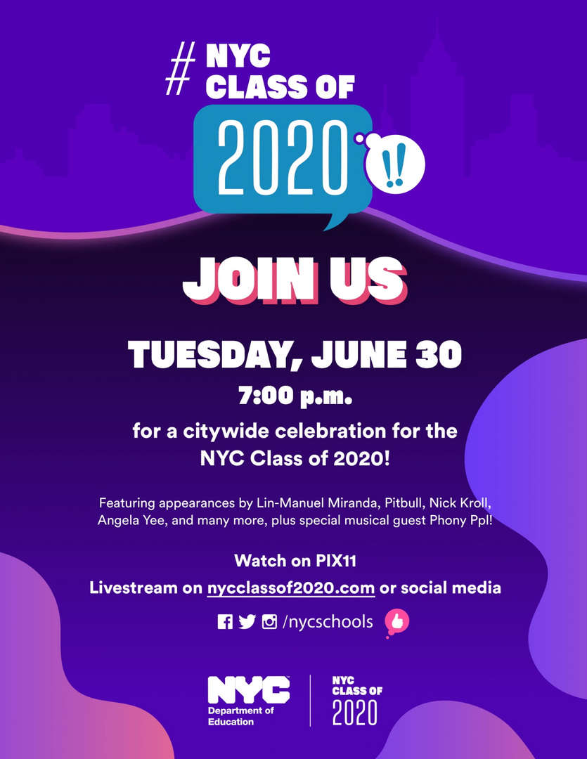 NYC Class of 2020 Graduation Flyer