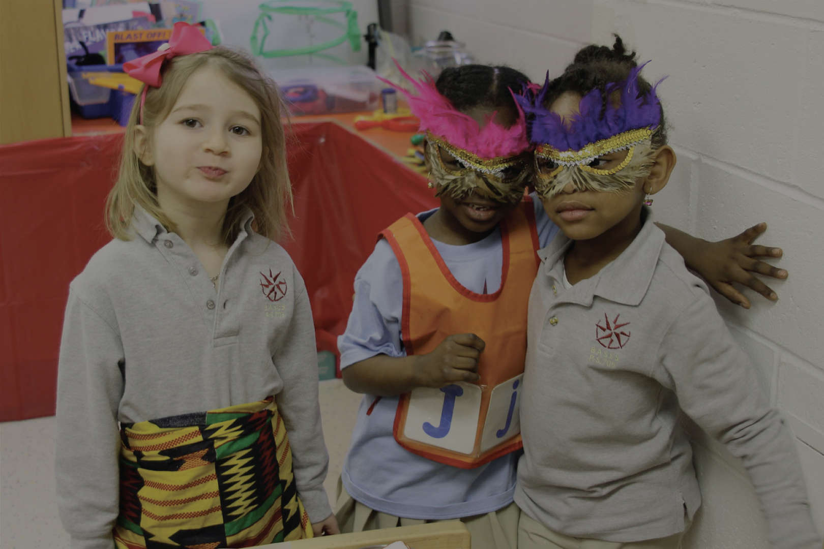 Children dressed up in masks