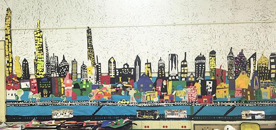 PS 452 NYC Skyscraper Art Piece