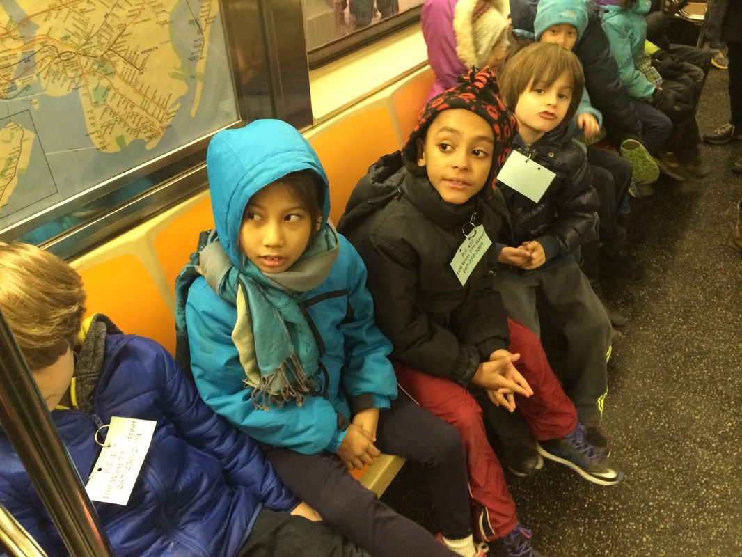 PS 452 Students Riding the MTA