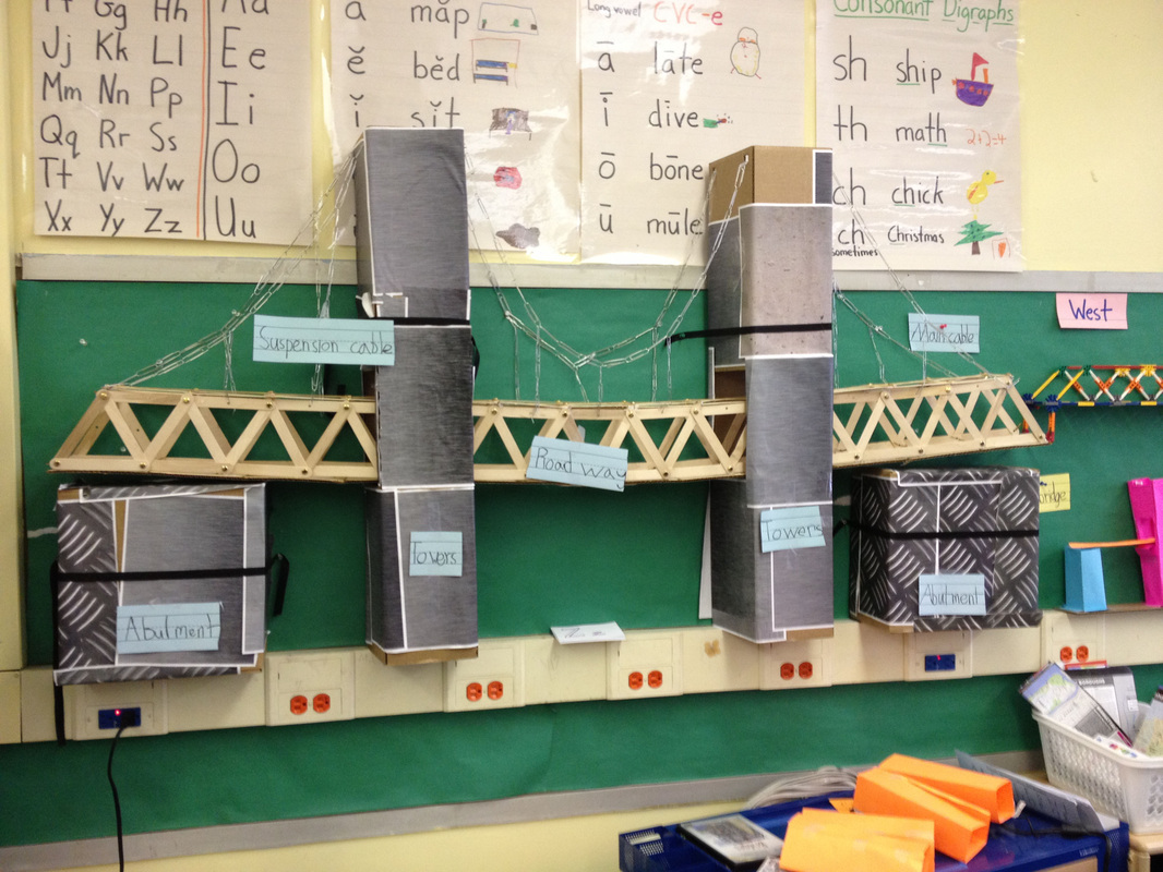 Second Grade Bridge Project at the Salvadori Center Program