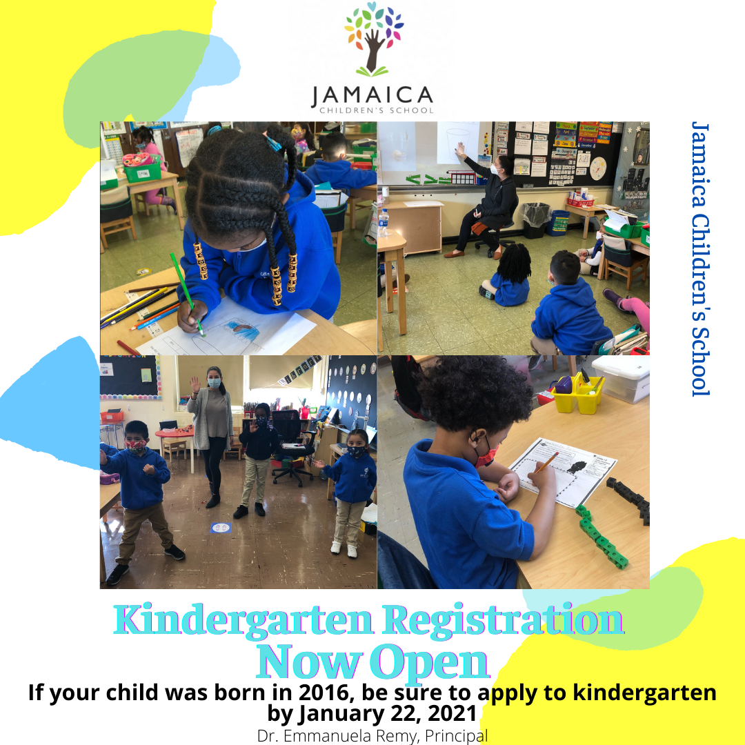 Kindergarten Registration Open until 1/22/2021.