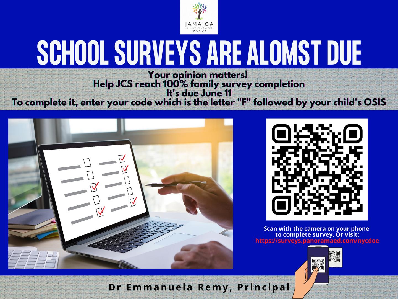 School surveys are almost due
