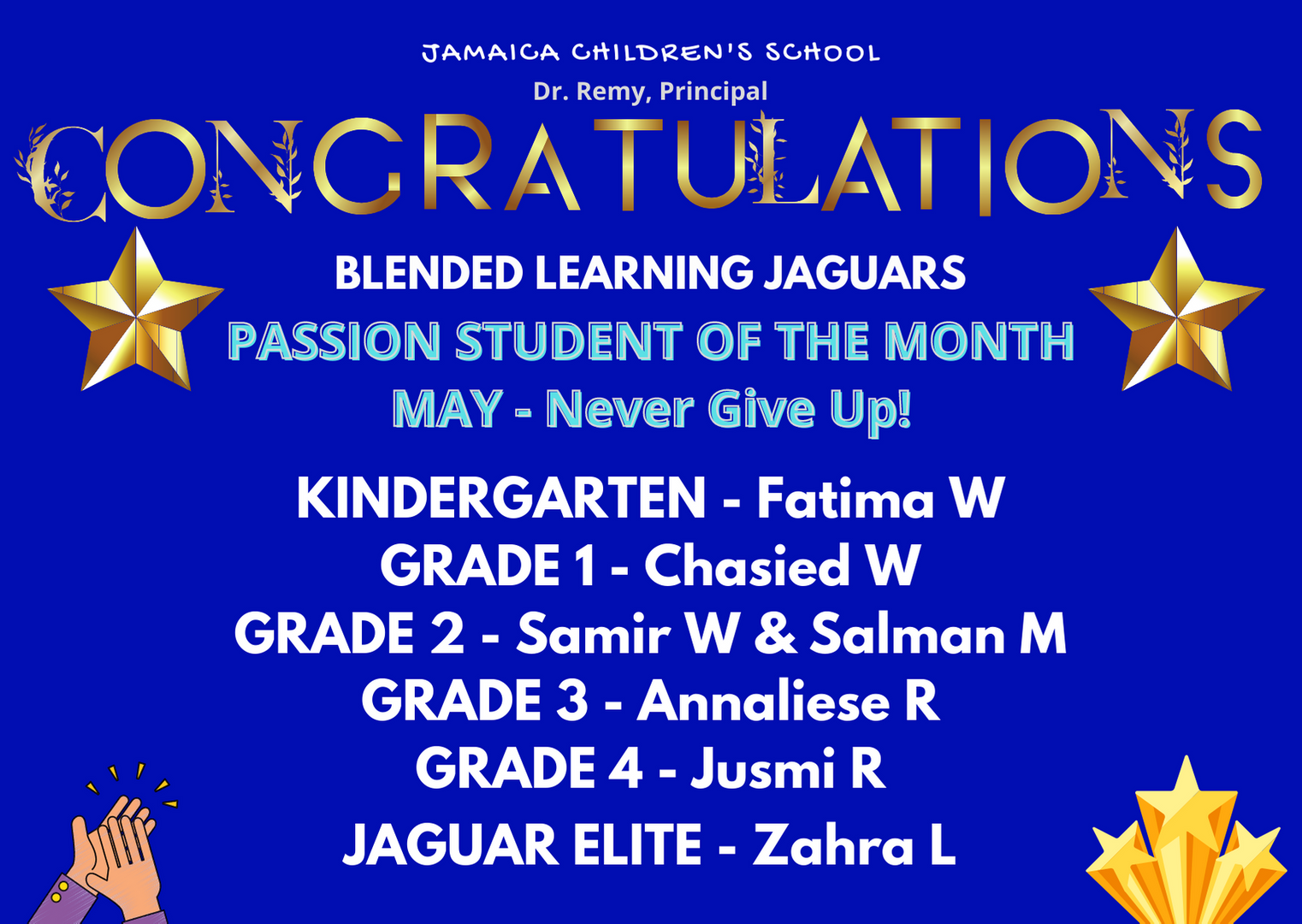 Passion Student of The Month