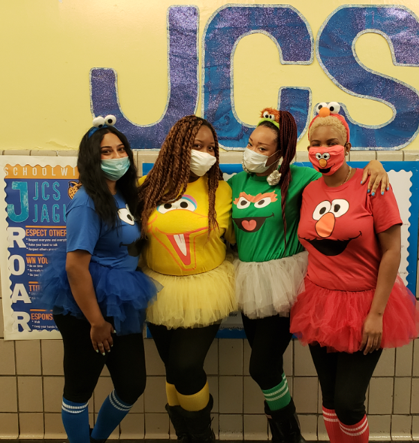 JCS staff on Character Literacy Day