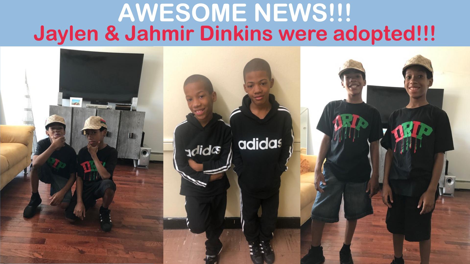 Jaylen and Jahmir were adopted