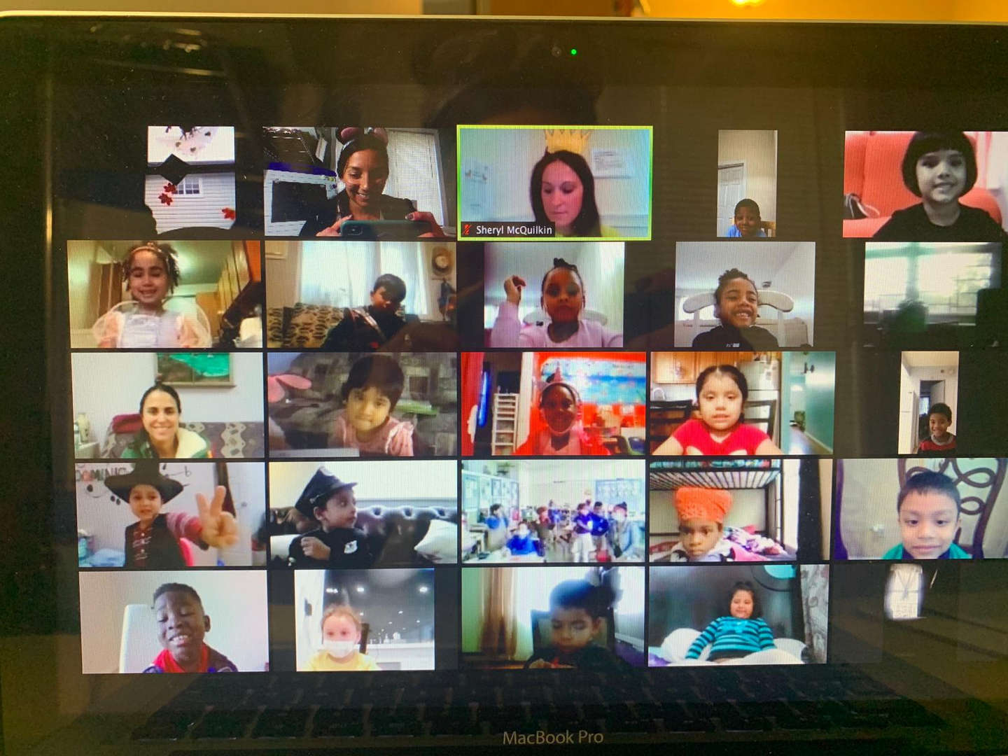 Remote students on Zoom