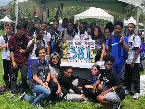 I.S. 381 Students at MCU Field Park