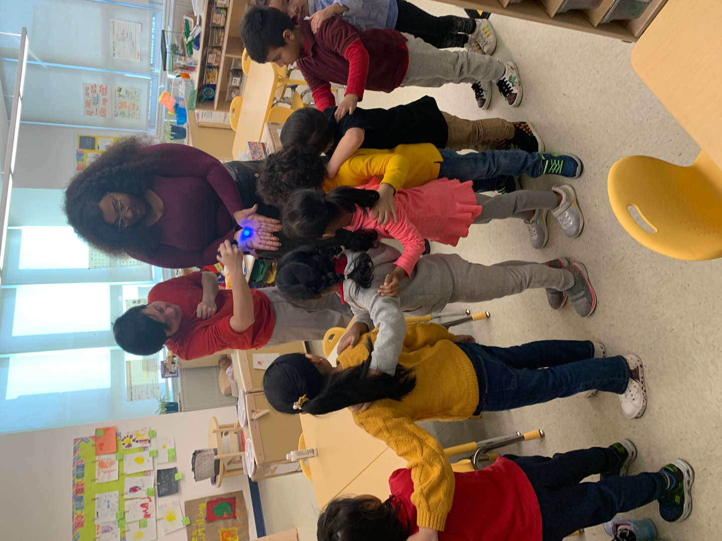 Students learning about hand washing with our school nurse