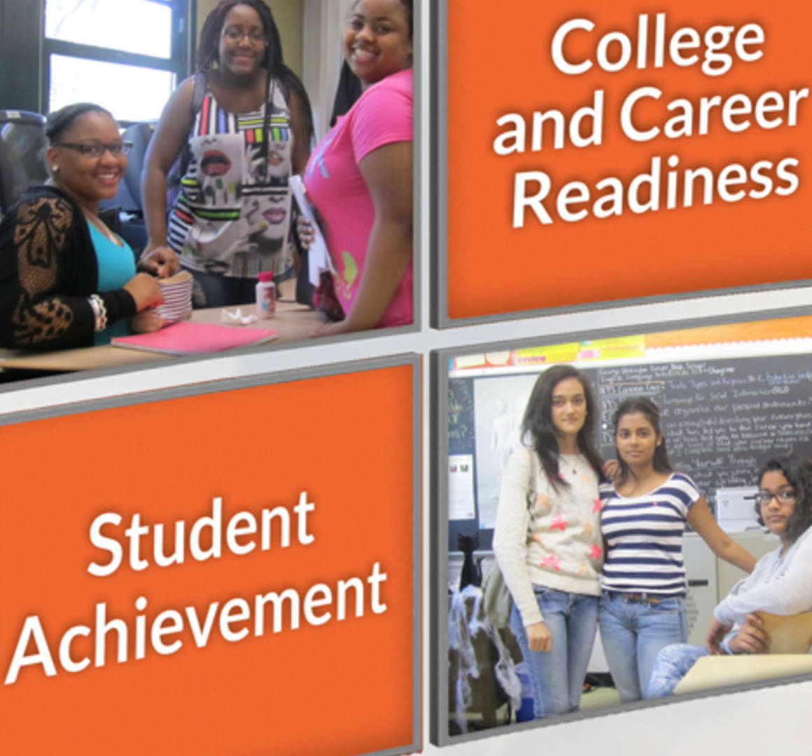 Student Achievement and Career Readiness: students standing in the classroom